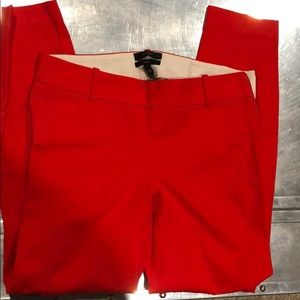 JCREW Minnie 00 pants red ankle length